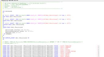 Generated SQL